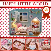 Cute Room Happy Little World Dollhouse Happiness Series 15.1*11.6*13.1CM