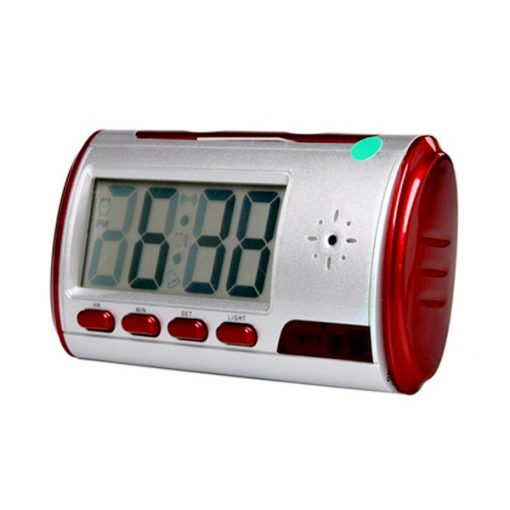 DV DVR Clock With Hidden Camera and Remote Control - Red