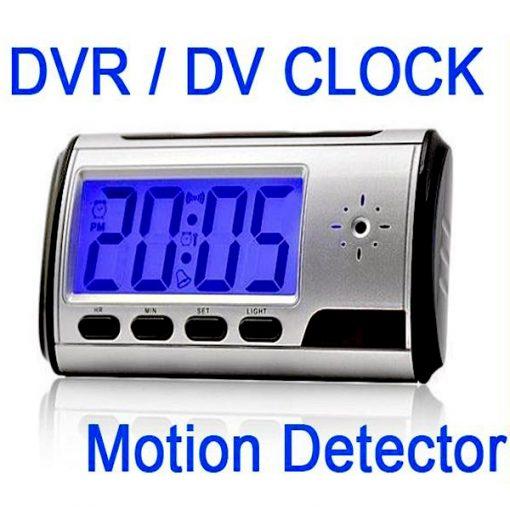DV DVR Clock With Hidden Camera and Remote Control - Black