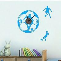 DIY Wall Art Sticker Wall Clock for Home Decor CD818 - Blue