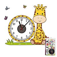 DIY Wall Art Sticker Wall Clock for Home Decor CD865 - Yellow