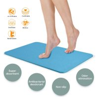Magic Diatomaceous Earth Bath Mat - Blue