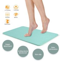 Magic Diatomaceous Earth Bath Mat - Green