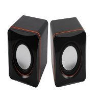 Double Horn Mini Music Speaker - Black
