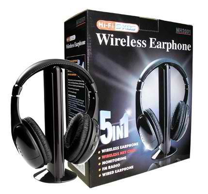 5 in 1 Wireless Headset
