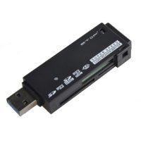 ETOP-U3-02 Super Speed USB 3.0 Micro SD / TF / MS / M2 Card Reader (Max. 64GB) - Black