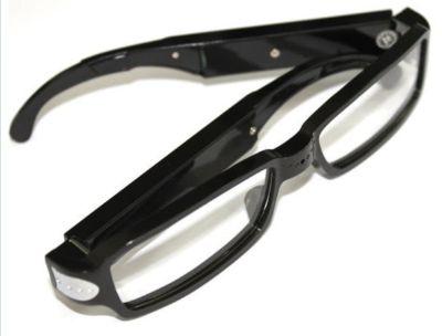 Eyeglass With Hidden 720p Video Camera - Black