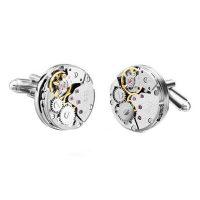 Floray Watch Automatic Movement Cufflinks - Silver