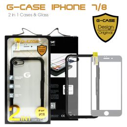 G-Case 2 in 1 Case and Glass Phone Protection for Iphone 7/8 - Black