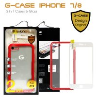 G-Case 2 in 1 Case and Glass Phone Protection for Iphone 7/8 - Red
