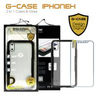 G-Case 2 in 1 Case and Glass Phone Protection for Iphone X - Black