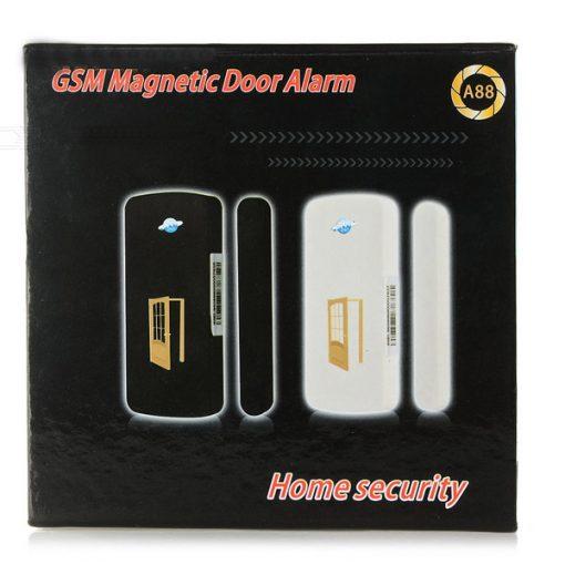 GSM SIM BAse Reporting Magnetic Door Alarm - White