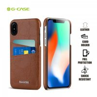 Gcase Koco Series Protective Shell Case for iPhone X - Brown