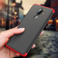 GKK Nokia 7 Plus 360 Full Protection Case - Red