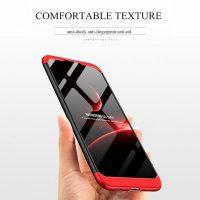 GKK Huawei Nova 3e P20 Lite 360 Full Protection Case - Red