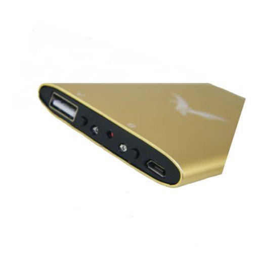 3000mAh Metal Power Bank With HD 1080P Camera Night Vision DVR - Gold