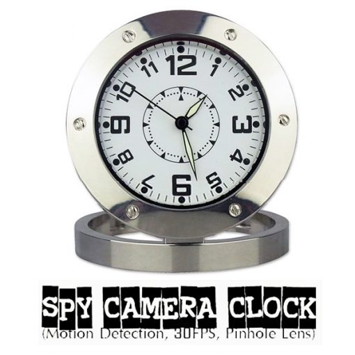 Clock Watch Hidden Camera DVR Camcorder - Silver