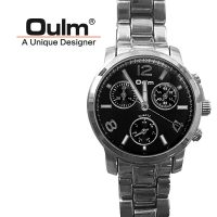 Oulm HP3256 Quartz Round Dial Stainless Steel Watch - Black