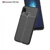 Huawei P20 Lite Autofocus Silicon Back Cover Case - Black