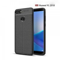 Huawei Y6 Autofocus Silicone Back Cover Case - Black