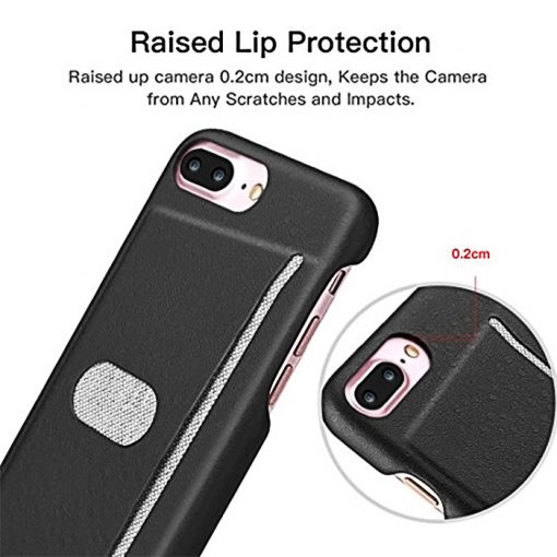 Protective Shell with Card Slot for iPhone 7 Plus - Black