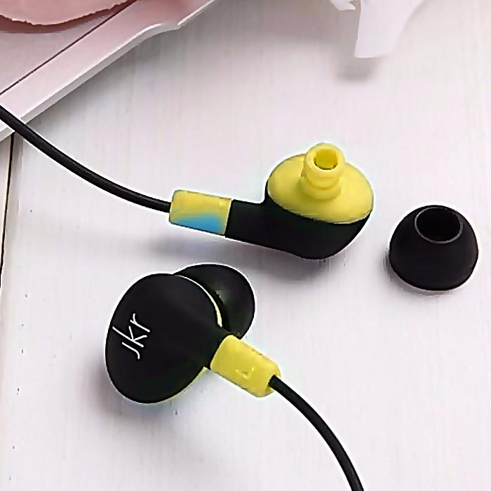 JKR Wireless Bluetooth Sports In-ear Earphone - Yellow