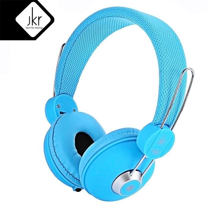 JKR 110 3.5MM Plug Wired Stereo HiFi Music Headphones - Blue