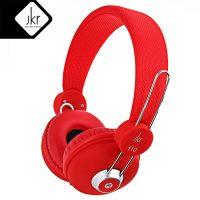 JKR 110 3.5MM Plug Wired Stereo HiFi Music Headphones - Red