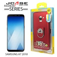J-Case 360 Samsung A7 2018 Fashion Series Smart Cover with Ring Holder - Red