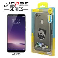 J-case 360 Oppo A73/F5 Fashion Series Smart Cover with Ring Holder - Gray