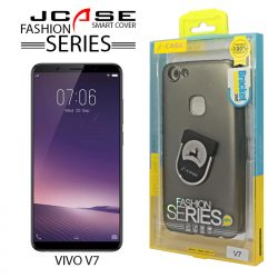 J-Case 360 Vivo V7 Fashion Series Smart Cover with Ring Holder - Gray