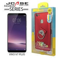 J-case 360 Vivo V7 PLus Fashion Series Smart Cover with Ring Holder - Red