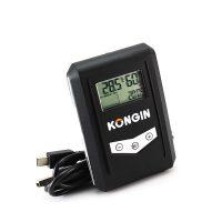 KONGIN USB Temperature and Humidity Data Logger - Black