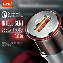 LDNIO C304Q Qualcom QC 3.0 Intelligent USB Car Charger - Black