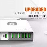 LDNIO A6802 40W 6 USB Ports USB Charger Desktop Charger with 2600mAh Power Bank - White