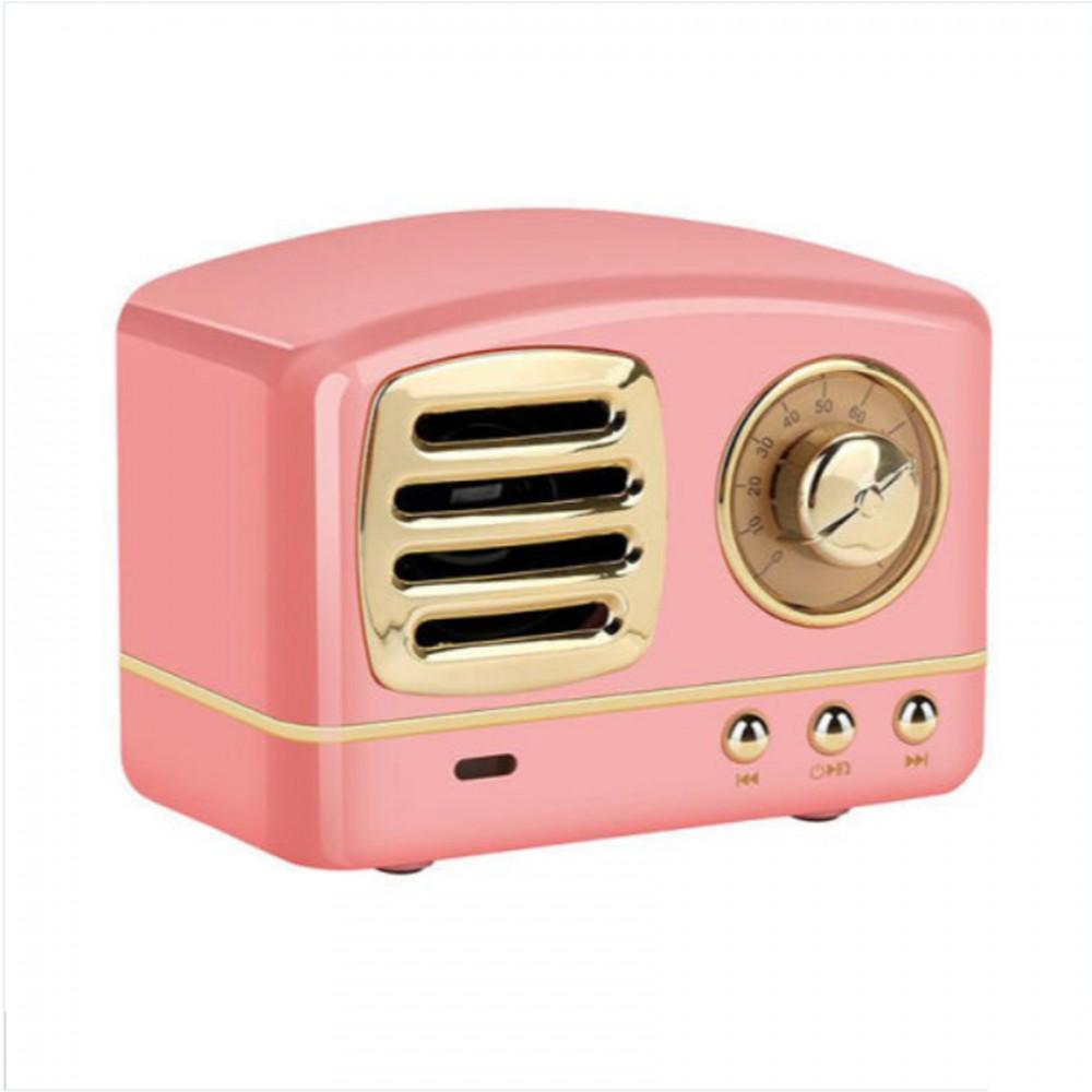 Multifunction Retro Design Bluetooth Speaker - Pink