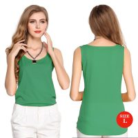 Liva Girl Casual Candy Sleeveless Blouse Large - Green