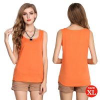Liva Girl Casual Candy Sleeveless Blouse XL - Orange