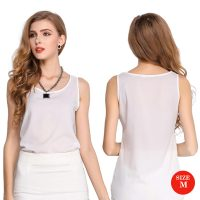 Liva Girl Casual Candy Sleeveless Blouse Medium - White