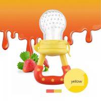 Baby Medicine Feeder Pacifier - Yellow