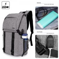 DTBG  8226 Waterproof Backpack With USB Charging Port - Grey