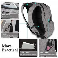 DTBG  8257 Waterproof Backpack With USB Charging Port - Grey