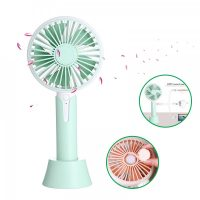 1200ma Rechargeable Hand Fan with Aroma Diffuser - Green