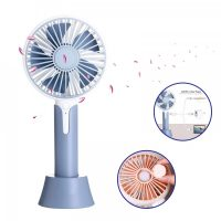1200ma Rechargeable Hand Fan with Aroma Diffuser - Grey