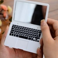 Macbook Air Laptop Pocket Mirror - White