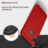 Huawei Nova 3i Fashion Fiber Case - Red