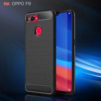 Oppo F9 Fashion Silicon Fiber Case - Black