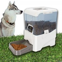 Remote Programmable Controlled Automatic Pet Feeder - White