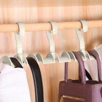 360 Degrees Rotating Cabinet Hook Home Storage Bag Shelf - Green