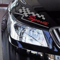 Racing Sports Flag Reflective Vinyl Car Sticker